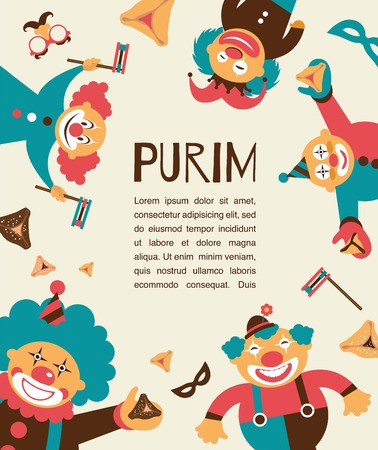 oznei: purim template design, Jewih holiday Illustration