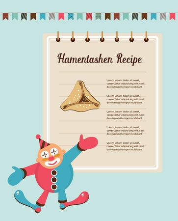 oznei: infographics of perfect Hamantaschen for Jewish holiday Purim