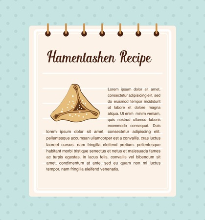 holiday food: Hamantaschen recipe. traitional food for Jewish holiday Purim