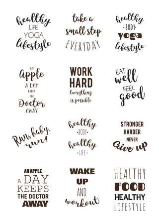 Sport and healthy lifestyle motivation quotes.