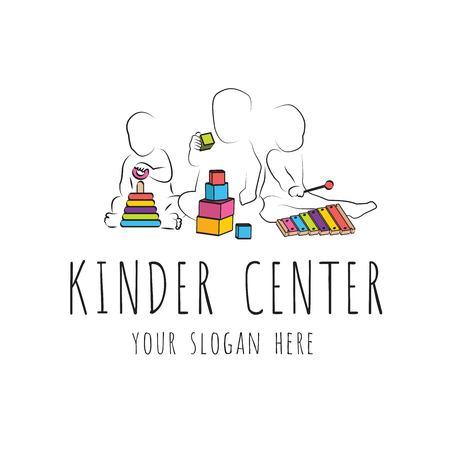 保育所と幼稚園のスローガン  イラスト・ベクター素材