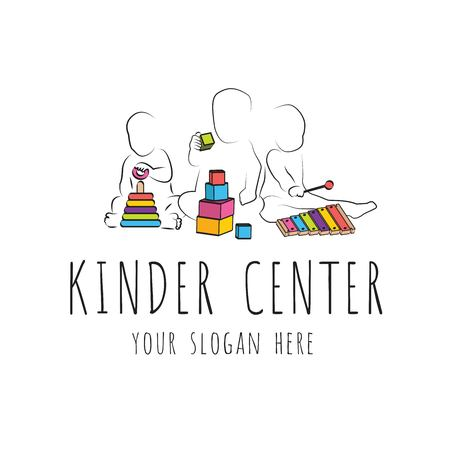slogan for child care center and kindergarten Illustration