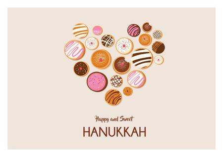 Hanukkah dougnut , Jewish holiday symbol. sweet traditional bake