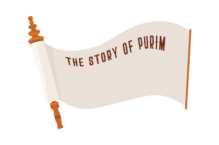the story of Purim. Jewish ancient scroll. banner template illustration Illustration
