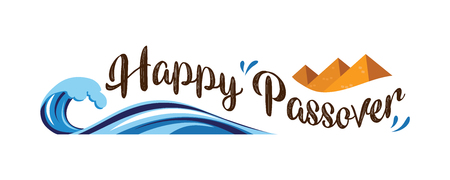 Happy Passover abstract banner. vector illustration. Illustration