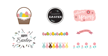 traditional icon set for Easter holiday