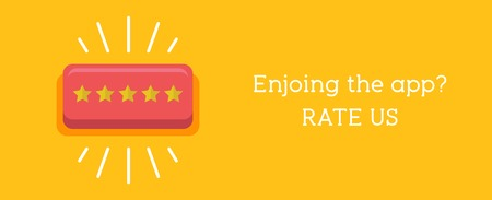 Customer review concept. Rating golden stars button. Vettoriali