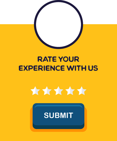 Five stars rating image illustration