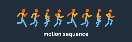 Running and jogging people. Sport run people silhouette, illustration run and jogging people. runing motion. vector illustration