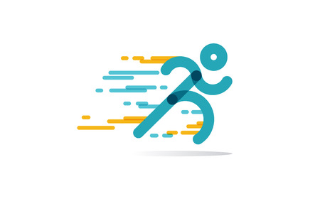 run Icon Vector. running man in motion. symbol of run isolated on a white background. Vector Illustration.