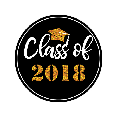 Graduation wishes overlays, lettering labels design. Template for graduation design, t-shirt, high school or college graduate, yearbook. Modern calligraphy. Illusztráció