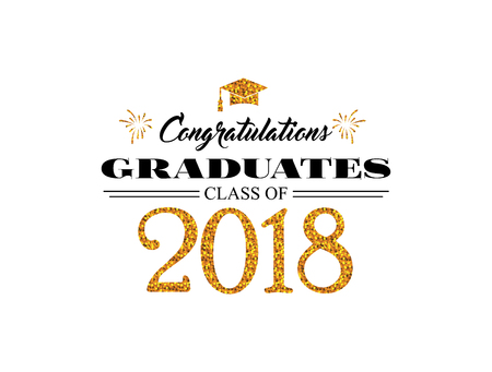 Graduation wishes overlays, lettering labels design. Template for graduation design, t-shirt, high school or college graduate, yearbook. Modern calligraphy. Illustration