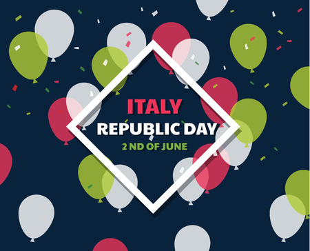 Italian independence day celebration. Second of June. Italian Republic Holiday 矢量图像