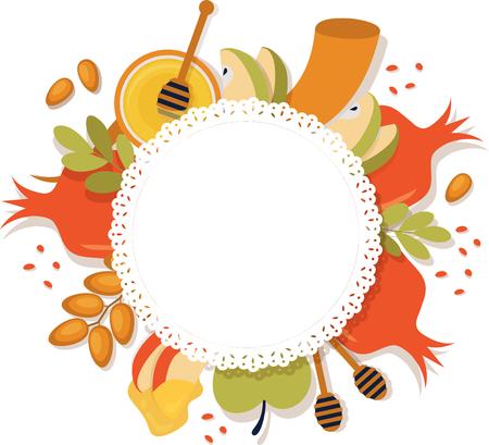 symbols of Jewish holiday Rosh Hashana , New Year.