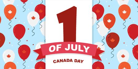 Canada day celebration. Canada Independence Day Flying Flat Balloons In National Colors of Canada. Happy Independence Day Vector Illustration. Canadian Flag Balloons. Illusztráció