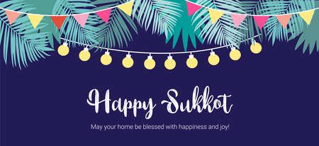 A Vector illustration of a Traditional Sukkah for the Jewish Holiday Sukkot . vector illustration