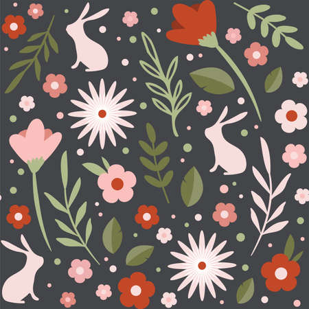 easter seamless patterns. Spring pattern for banners, posters, cover design templates, social media stories wallpapers and greeting cards. Illusztráció
