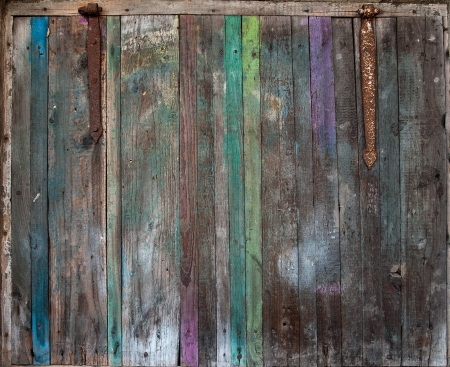 The old wooden colored shutter photo