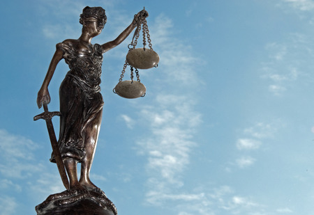 lady justice: Lady Justice - Temida - Themis on the blue sky Stock Photo
