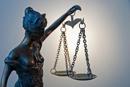 criminal act: Lady Justice - Temida - Themis
