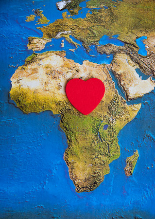 missionary: Love of Africa - Africa s heart Stock Photo