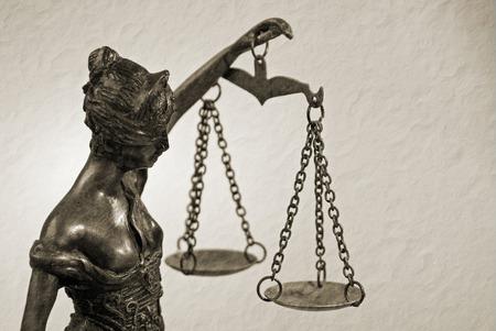 Temida - Lady Justice - Themis retro sepia photo