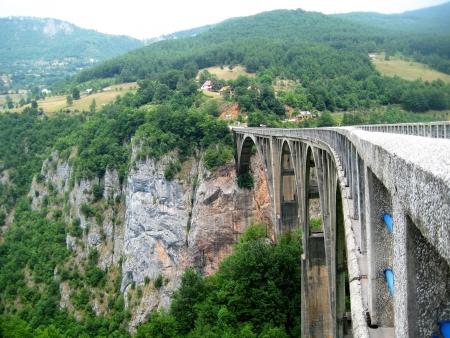 the largest: largest automotive concrete arch bridge in Europe Stock Photo