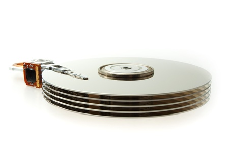 ide: Open and broken HDD hard drive disk computer device