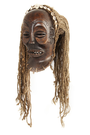 african mask: Old antique african tribal mask  chokwe