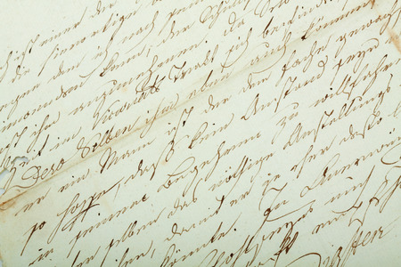 old letter: Handwritten text pattern as background or as wallpaper