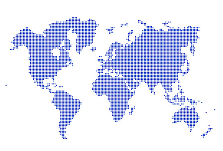 Image of modern optimally dotted world map illustration Stock Photo