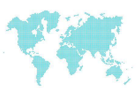 mapa mundi: Imagen de la moderna forma �ptima de puntos ilustraci�n mapa del mundo