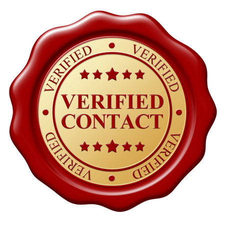verified: Red wax seal with text Verified subject on white background