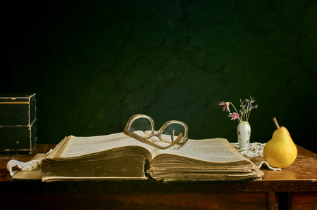blindness: open book on the table