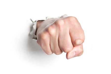 Mans fist  photo