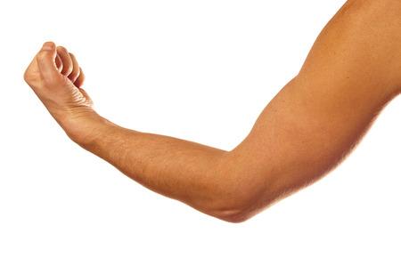 Man muskulösen Arm