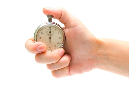 timescale: Timer in hand Stock Photo