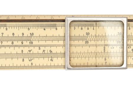 Old slide rule macro Standard-Bild