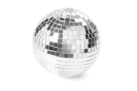 Disco ball on white background Archivio Fotografico