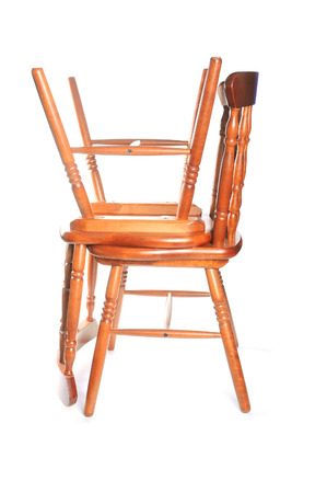 two chairs: Two chairs on white background