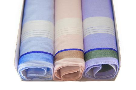 serviettes: Three serviettes on white background