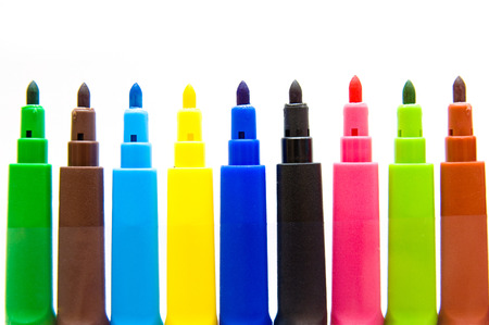 Set of multicolored markers