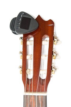 guitar tuner: Guitar neck and clip digital tuner