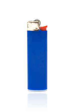 Blue lighter with reflection Stock Photo - 25177232