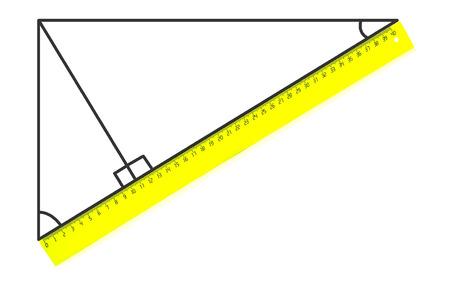 Rechtwinkliges Dreieck und ein Lineal