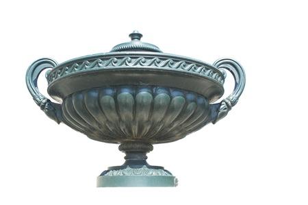 bronze bowl: Antique bronze bowl,isolated on white