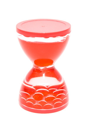 Hourglass on white background photo