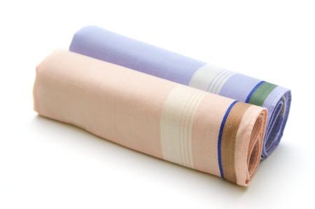 serviettes: Two serviettes on white background