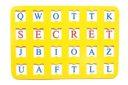 decrypt: Sheet with decryption word Secret