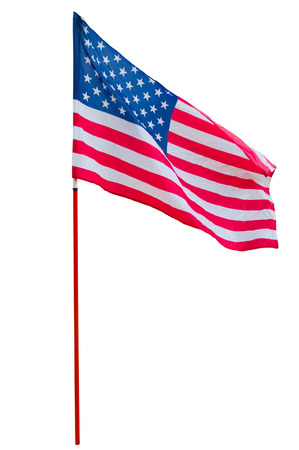 anthem: American flag on white background